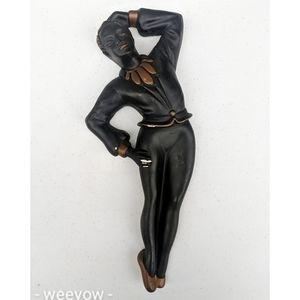 Vintage Mid Century Chalkware Dancer MCM